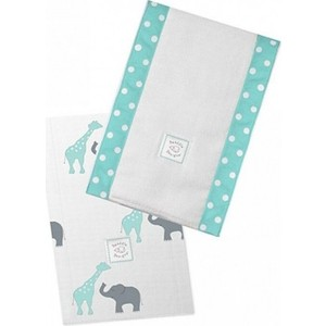 цены Полотенчики SwaddleDesigns Baby Burpie Set SC Elephant & Giraffe (SD-457SC)