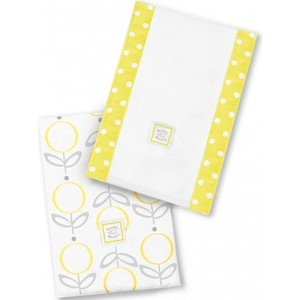 Полотенчики SwaddleDesigns Baby Burpie Set Yellow Lolli Fleur (SD-601Y)