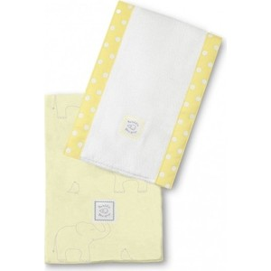 Полотенчики SwaddleDesigns Baby Burpie Set Yellow Sterling Deco Elephants on Sunwashed Pastels (SD-353SY)