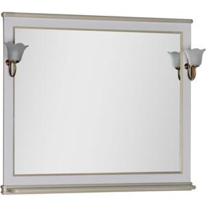 Зеркало Aquanet Валенса 110 белый краколет/золото (182648) aquanet валенса 110 черный краколет серебро 180296