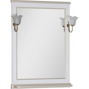 Зеркало Aquanet Валенса 70 белый краколет/золото (182649) зеркало aquanet валенса 90 черный краколет серебро 180140