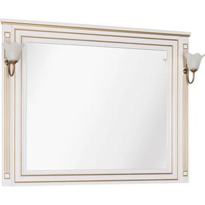 Зеркало Aquanet Паола 120 белое/золото (186105)