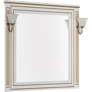 Зеркало Aquanet Паола 90 белое/золото (186108) hero герой h701 10k золото кончик пера чернилами белое золото перо