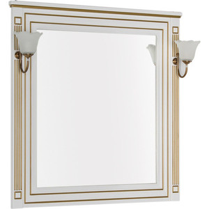 Зеркало Aquanet Паола 90 белое/золото (186108)