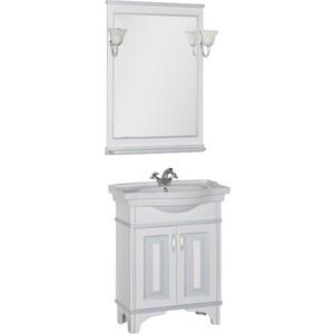 Мебель для ванной Aquanet Валенса 70 белый краколет/серебро aquanet валенса 110 черный краколет серебро 180296