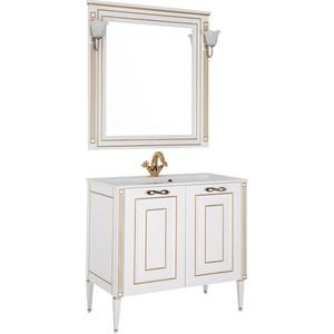 Мебель для ванной Aquanet Паола 90 белый/золото мебель для ванной comforty