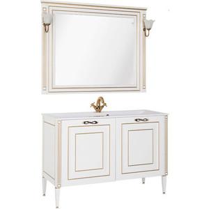 Мебель для ванной Aquanet Паола 120 белый/золото