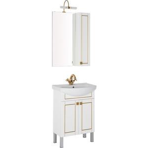 Мебель для ванной Aquanet Честер 60 белый/золото