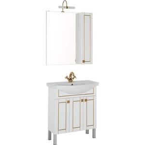 Мебель для ванной Aquanet Честер 75 белый/золото