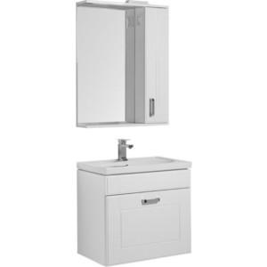 Мебель для ванной Aquanet Рондо 70 с ящиком, белый зеркало шкаф aquanet рондо 70 белый 189162