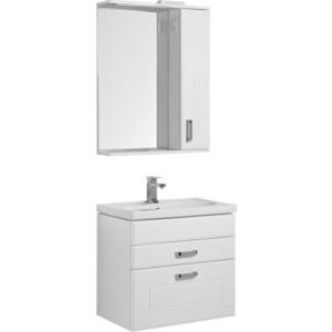 Мебель для ванной Aquanet Рондо 70 два ящика, белый зеркало шкаф aquanet рондо 70 белый 189162