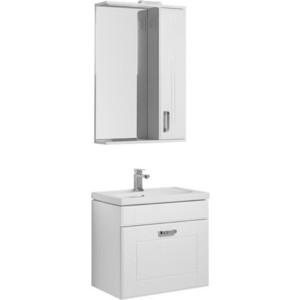 Мебель для ванной Aquanet Рондо 60 с ящиком, белый
