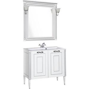 Мебель для ванной Aquanet Паола 90 белый/серебро