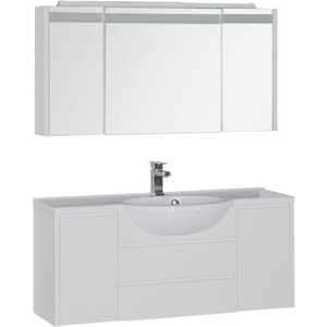 Мебель для ванной Aquanet Лайн 120 белый