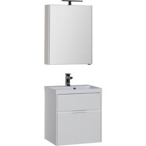 Мебель для ванной Aquanet Латина 60 два ящика, белый поддон для балконного ящика ingreen цвет белый длина 60 см