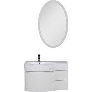 Мебель для ванной Aquanet Сопрано 95 L с дверцами и ящиками, белый