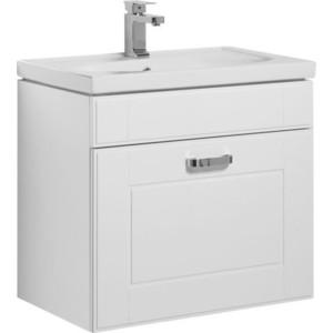 Тумба с раковиной Aquanet Рондо 70 с ящиком, белая (189155, 4640021060797)