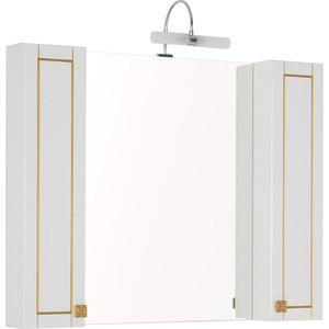Зеркало-шкаф Aquanet Честер 105 белый/золото (186084)