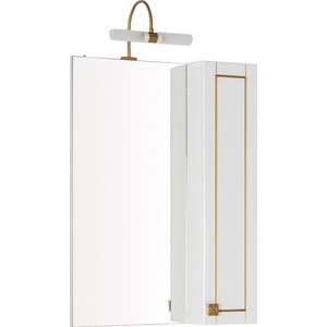 Зеркало-шкаф Aquanet Честер 60 белый/золото (186087) шкаф зеркало aquanet рондо 60 белый 189164