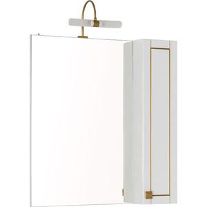 Зеркало-шкаф Aquanet Честер 75 белый/золото (186090)