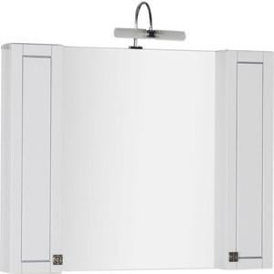 Зеркало-шкаф Aquanet Честер 105 белый/серебро (182631)