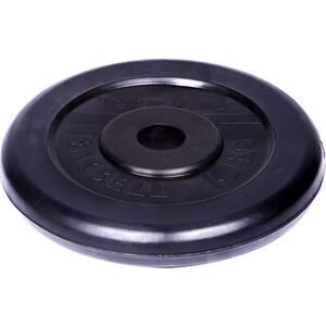 Диск обрезиненный Titan 26 мм. 10 кг. черный диск обрезиненный star fit bb 202 посадочный диаметр 26 мм 0 5 кг