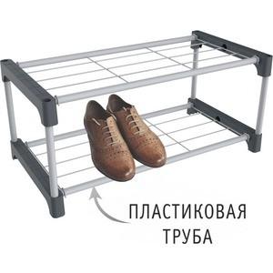 все цены на Полка для обуви Sheffilton SHT-SR5-P серый/темно-серый онлайн