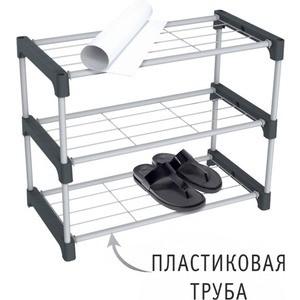 все цены на Полка для обуви Sheffilton SHT-SR8-P серый/темно-серый онлайн