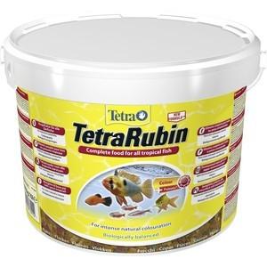 Корм Tetra TetraRubin Flakes Premium Food for All Tropical Fish хлопья усиление окраски для всех видов тропических рыб 10л 769922)