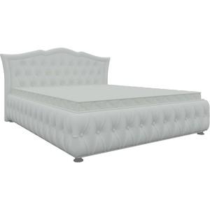Кровать двуспальная АртМебель Герда экокожа белая