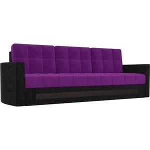 Диван АртМебель Белла микровельвет фиолетово-черный