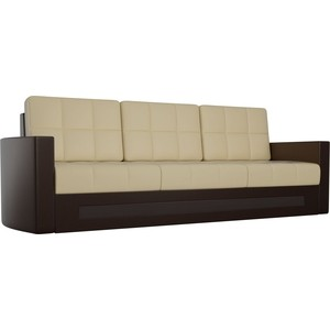 Диван Мебелико Белла эко-кожа бежево-коричневый диван мебелико малютка эко кожа бежево коричневый