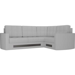 Диван угловой Мебелико Белла У эко-кожа белый правый диван угловой мебелико атлантис эко кожа белый правый