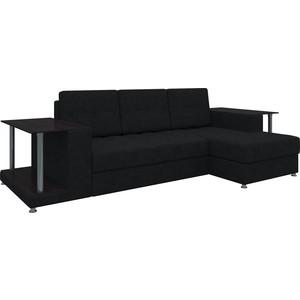купить диван угловой мебелико даллас микровельвет черный правый в
