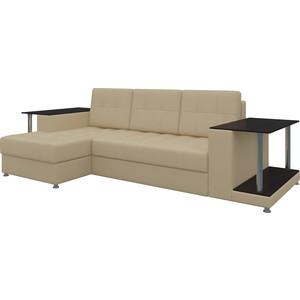 Диван угловой Мебелико Даллас эко-кожа бежевый левый диван угловой мебелико даллас эко кожа бело черный левый