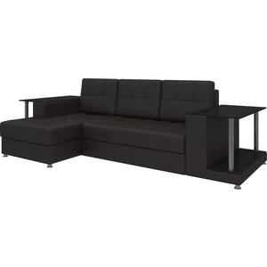 Диван угловой Мебелико Даллас эко-кожа коричневый левый диван угловой мебелико даллас эко кожа бело черный левый
