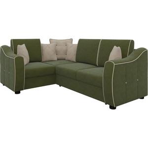 Диван угловой Мебелико Френсис микровельвет зелено-бежевый левый диван угловой мебелико атлантис микровельвет зелено бежевый левый