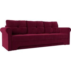 Диван-еврокнижка АртМебель Европа микровельвет красный диван еврокнижка артмебель европа микровельвет коричнево бежевый
