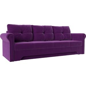 Диван-еврокнижка АртМебель Европа микровельвет фиолетовый