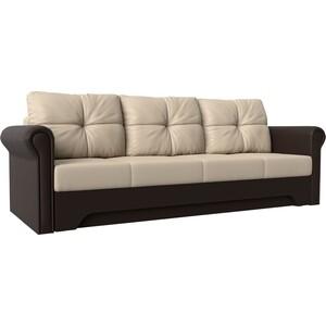 Диван-еврокнижка Мебелико Европа эко-кожа бежево-коричневый диван мебелико малютка эко кожа бежево коричневый