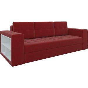 Диван-еврокнижка Мебелико Пазолини микровельвет красный диван еврокнижка мебелико европа микровельвет зелено бежевый