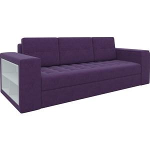 Диван-еврокнижка Мебелико Пазолини микровельвет фиолетовый диван еврокнижка мебелико европа микровельвет зелено бежевый