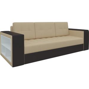Диван-еврокнижка Мебелико Пазолини эко-кожа бежево-коричневый диван мебелико малютка эко кожа бежево коричневый