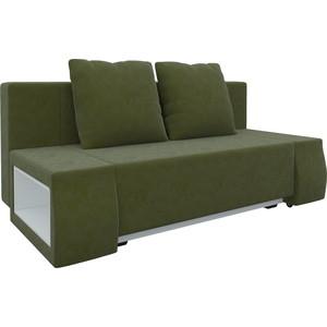 Диван-еврокнижка АртМебель Чарли люкс микровельвет зеленый