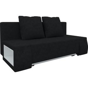 Диван-еврокнижка Мебелико Чарли люкс микровельвет черный диван еврокнижка мебелико чарли люкс микровельвет зелено бежевый