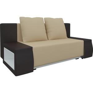 Диван-еврокнижка Мебелико Чарли люкс эко-кожа бежево-коричневый диван мебелико малютка эко кожа бежево коричневый