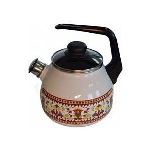 Чайник эмалированный 3.0 л со свистком Appetite Карусель (4с209я)