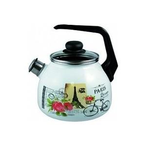 Чайник эмалированный 3.0 л со свистком Appetite Париж (4с209я)