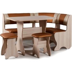 Набор мебели для кухни Бител Тюльпан - комби (ясень с-120 + с-101, ясень)