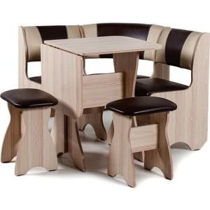 Набор мебели для кухни Бител Тюльпан мини - комби (ясень с-221 + с-101, ясень)